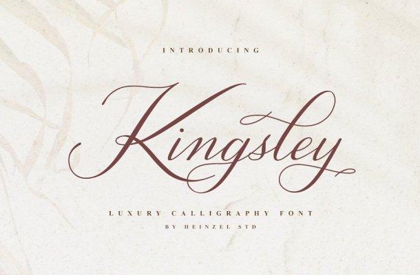 Kingsley Luxury Calligraphy Font