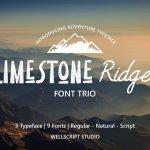 Limestone Ridge Display Sans Font Duo