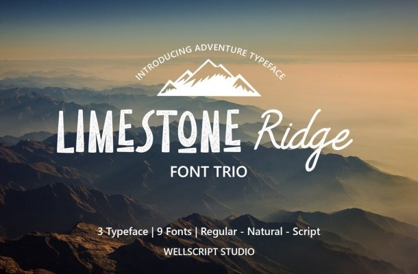 Limestone Ridge Display Sans Font Duo