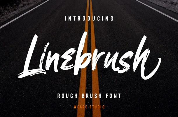 Linebrush Rough Brush Script Font