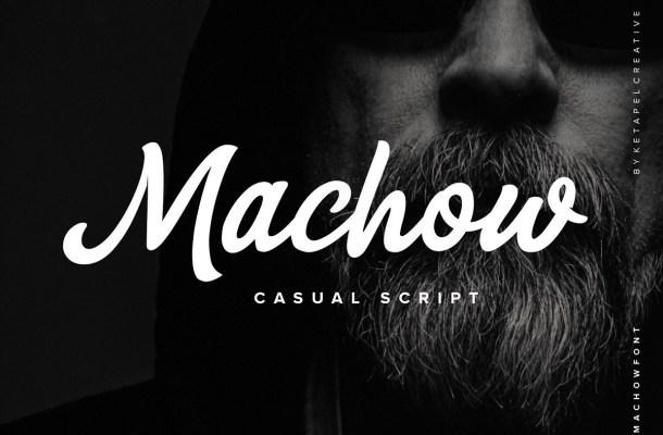 Machow Bold Casual Script Font