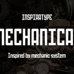 Mechanical Sans Serif Font