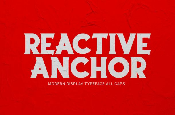 Reactive Anchor Serif Display Typeface