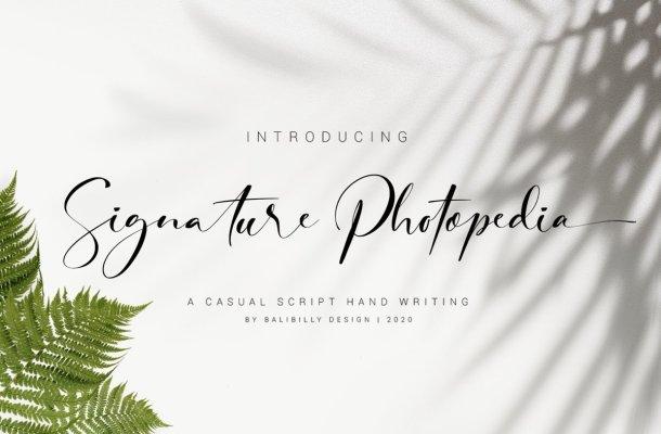 Signature Photopedia Handwritten Font