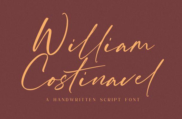 William Costinavel Handwritten Script Font