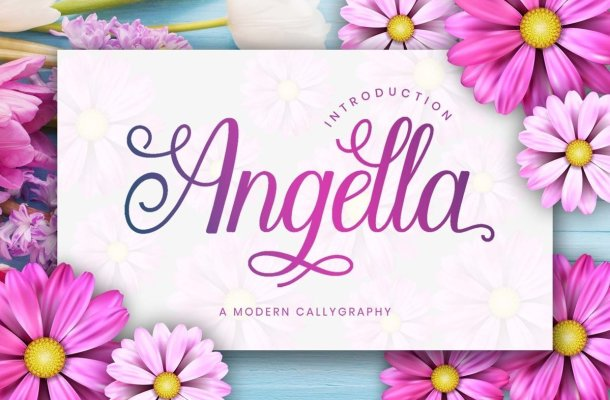Angella Calligraphy Script Font