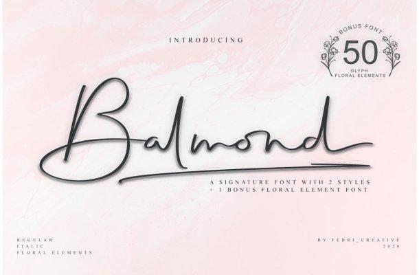 Balmond Handwritten Signature Font