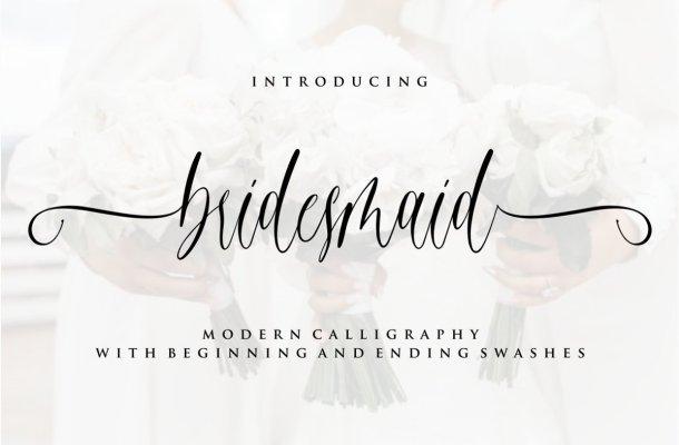 Bridesmaid Calligraphy Script Font