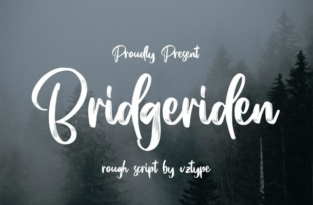 Bridgeriden Brush Script Font