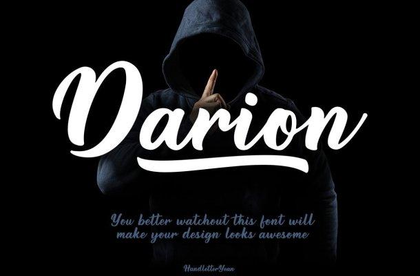 Darion Handwritten Script Font