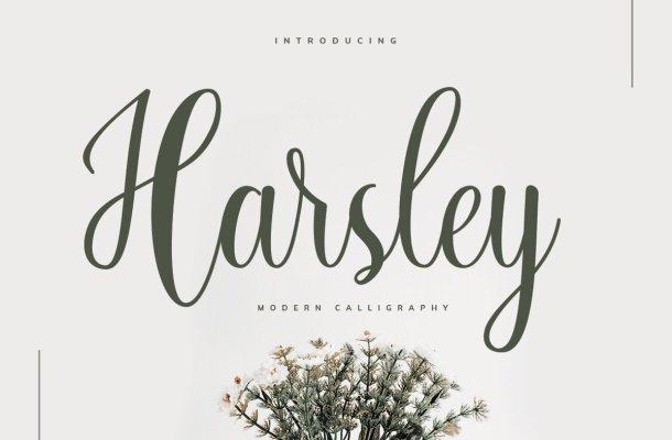 Harsley Calligraphy Script Font