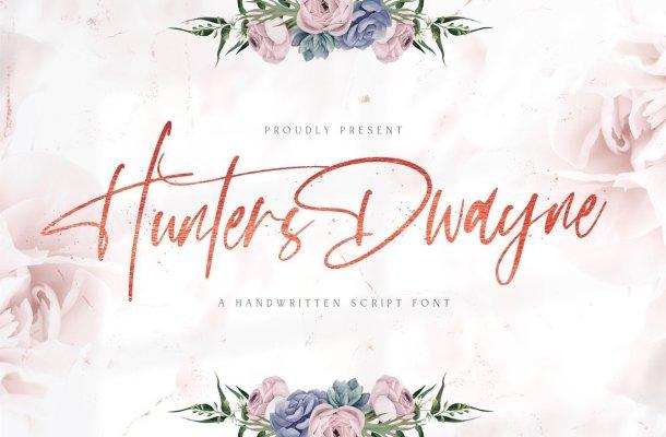 Hunthers Dwayne Handwritten Signature Font