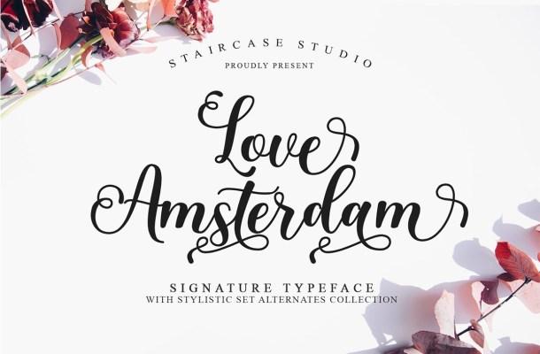 Love Amsterdam Calligraphy Script Font