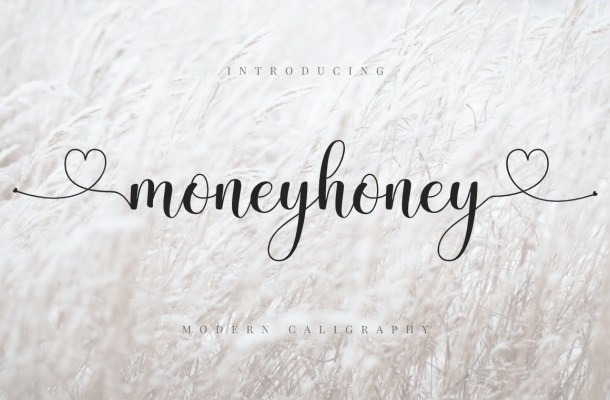 Moneyhoney Calligraphy Script Font