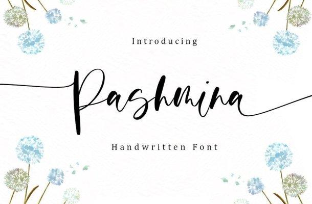 Pashmina Handwritten Script Font