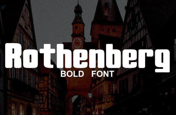 Rothenberg Bold Sans Serif Font