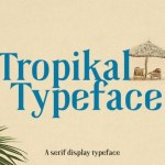 Tropikal Display Serif Typeface