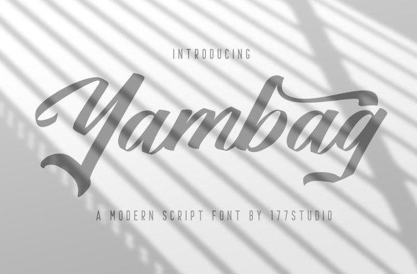 Yambag Modern Script Font