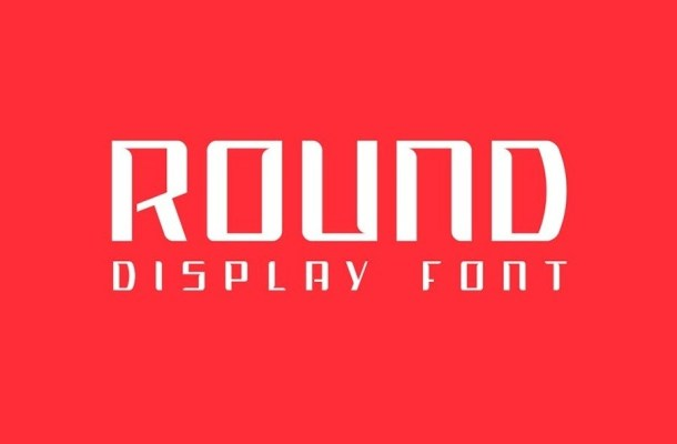 Round Display Typeface
