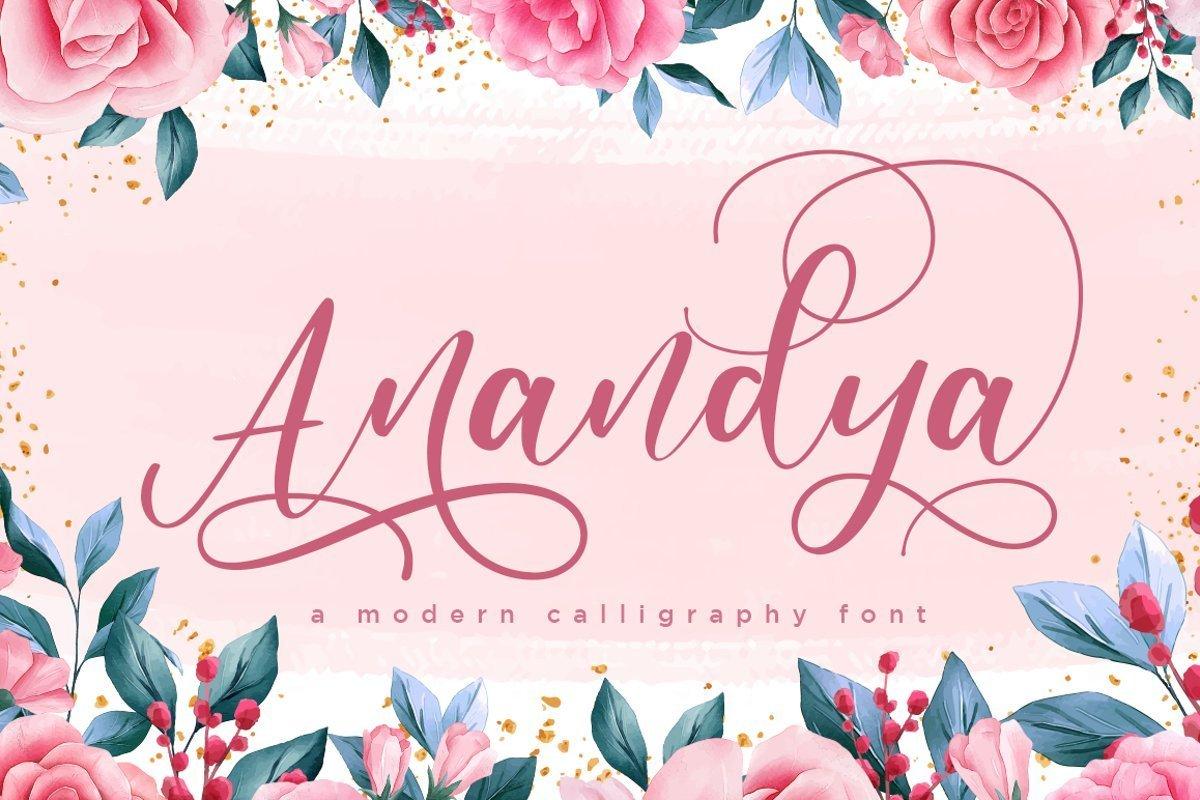 Anandya-Calligraphy-Script-Font