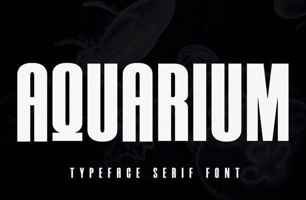 Aquarium Sans Serif Typeface