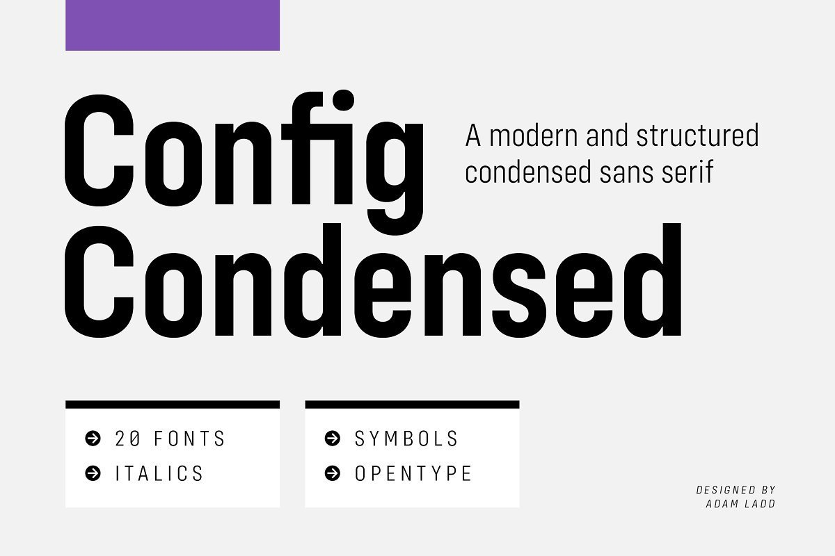 Config-Condensed-Sans-Font-Family