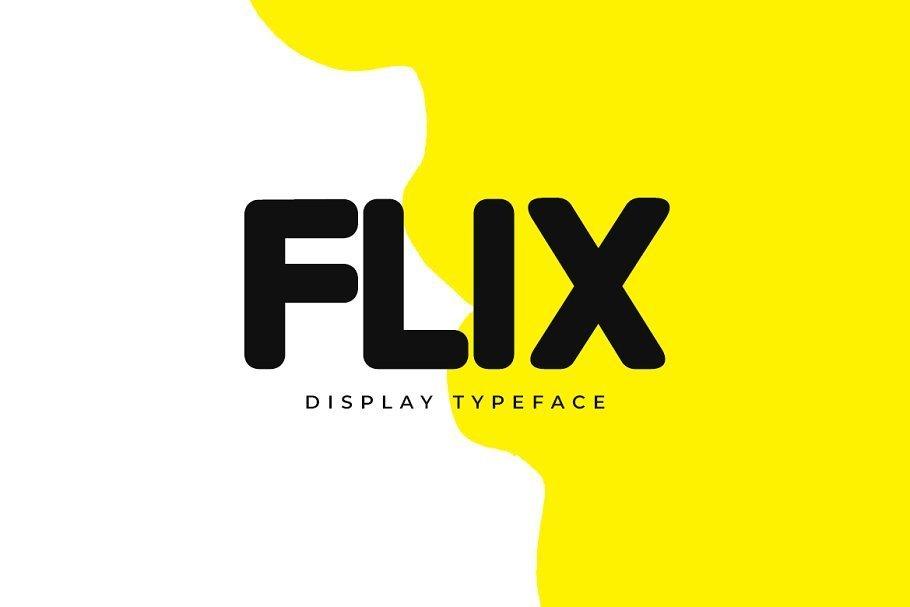 Download FLIX Unique Display Logo Typeface - Download Fonts