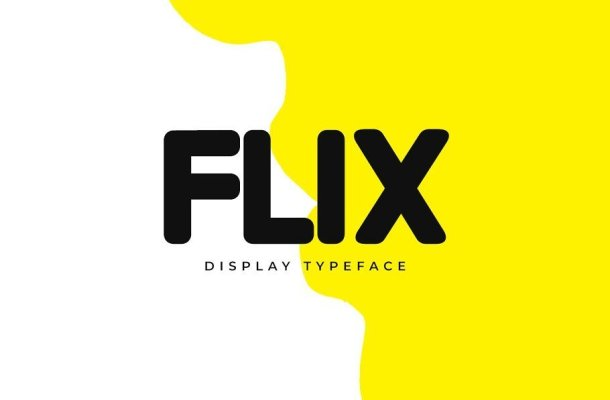 FLIX Unique Display Logo Typeface