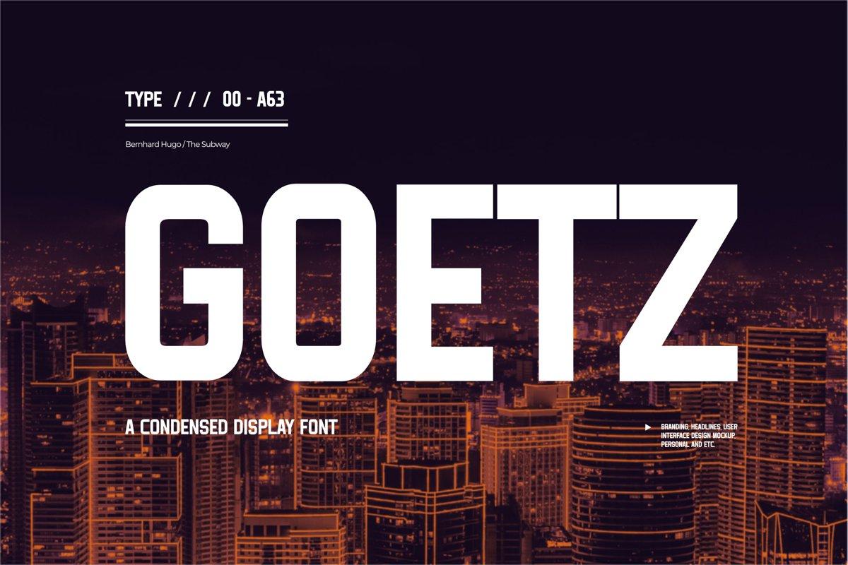 Goetz-Condensed-Display-Font