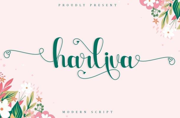 Harliva Calligraphy Script Font
