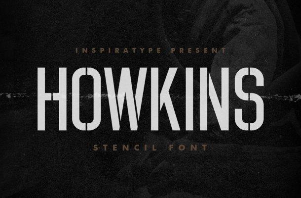 Howkins Stencil Display Font
