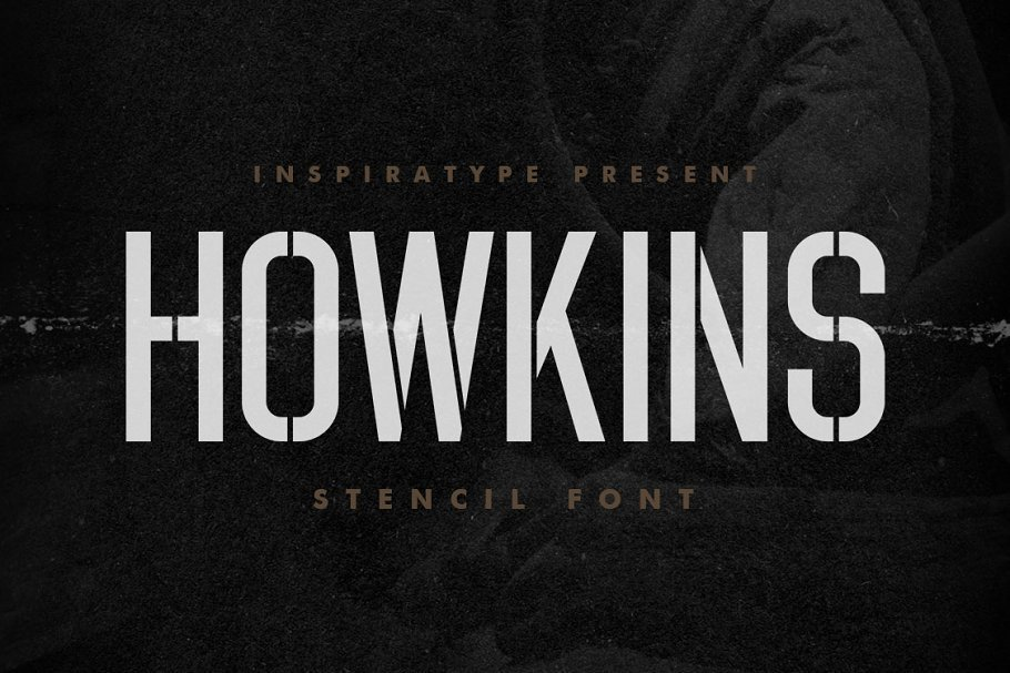 Howkins-Stencil-Display-Font