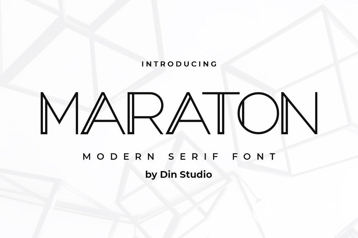 Maraton-Modern-Sans-Display-Font