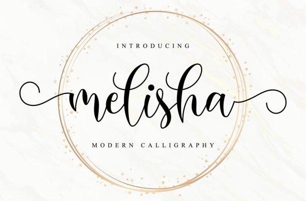 Melisha Modern Calligraphy Script Font