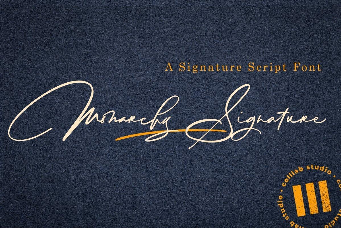 Monarchy-Signature-Script-Font