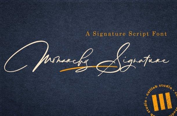 Monarchy Signature Script Font
