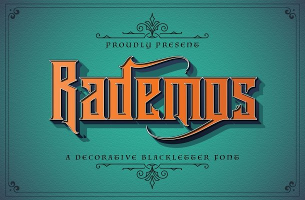 Rademos-Decorative-Blackletter-Font