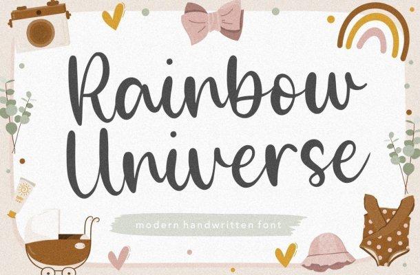 Rainbow Universe Handwritten Font