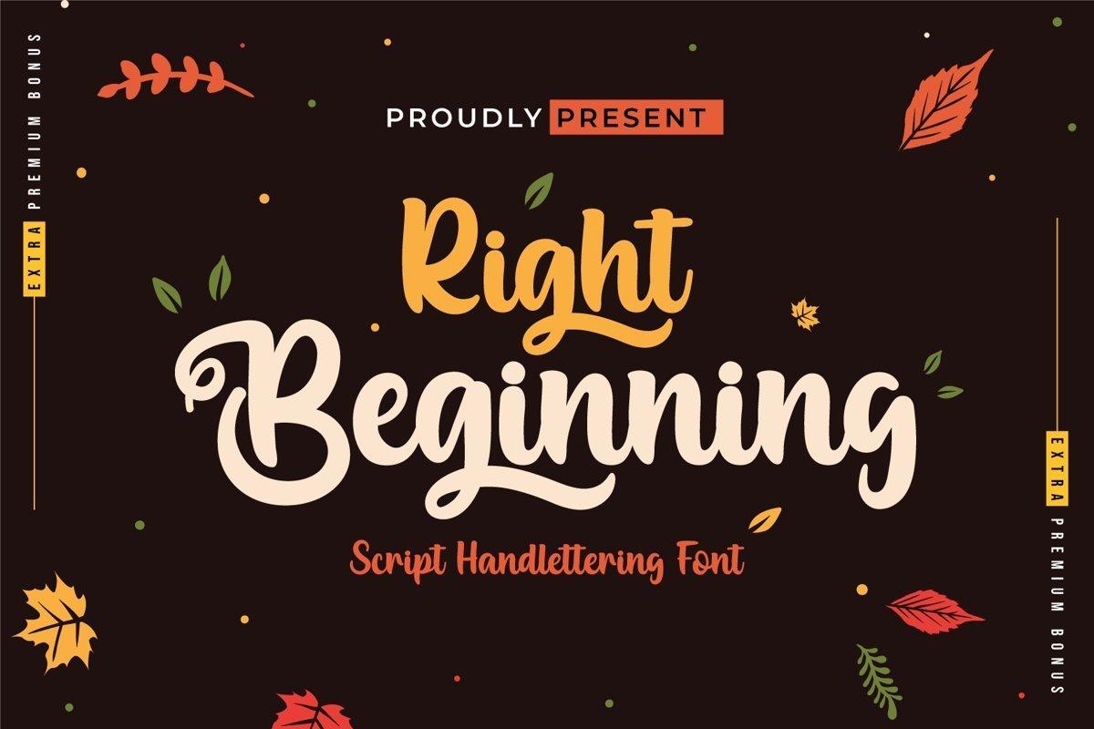 Right-Beginning-Bold-Script-Font