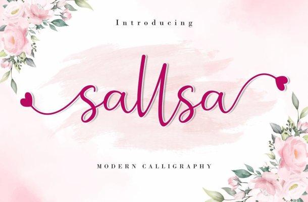 Sallsa Modern Calligraphy Script Font
