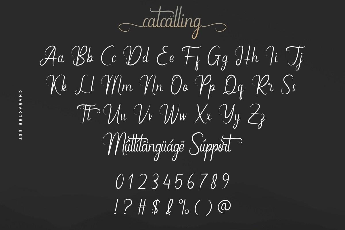Catcalling-Font-3