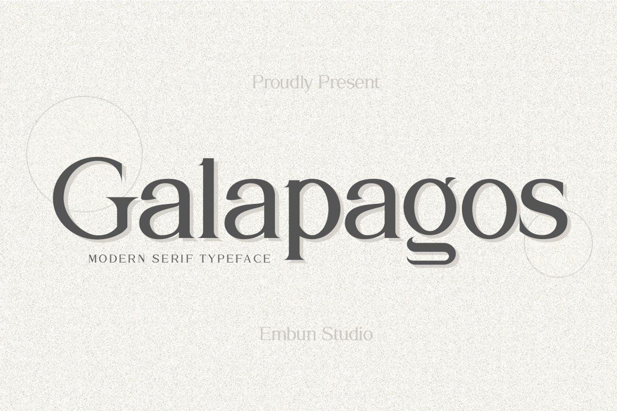 Galapagos-Modern-Serif-Typeface