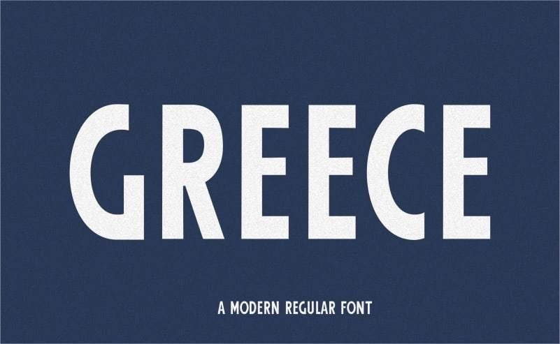 Greece-Modern-Sans-Serif-Font