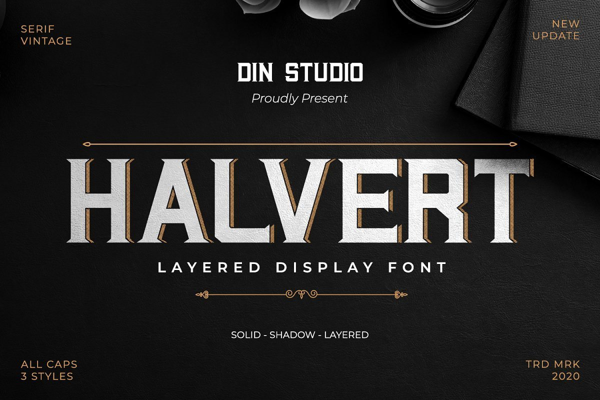 Halvert-Layered-Display-Font