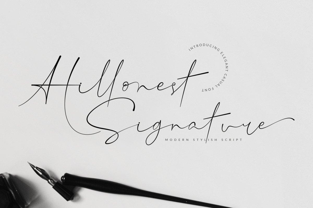 Hillonest-Handwritten-Signature-Font