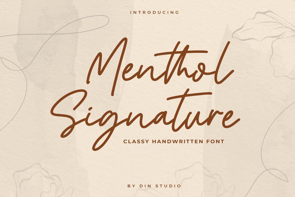 Menthol-Signature-Handwritten-Font