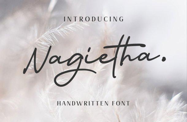 Nagietha Handwritten Signature Font