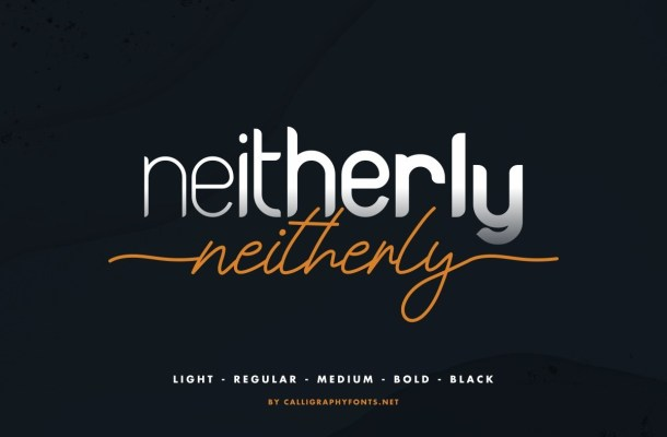 Neitherly Font Duo