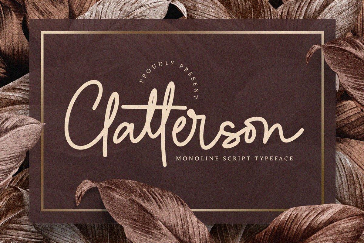 Clatterson-Typeface