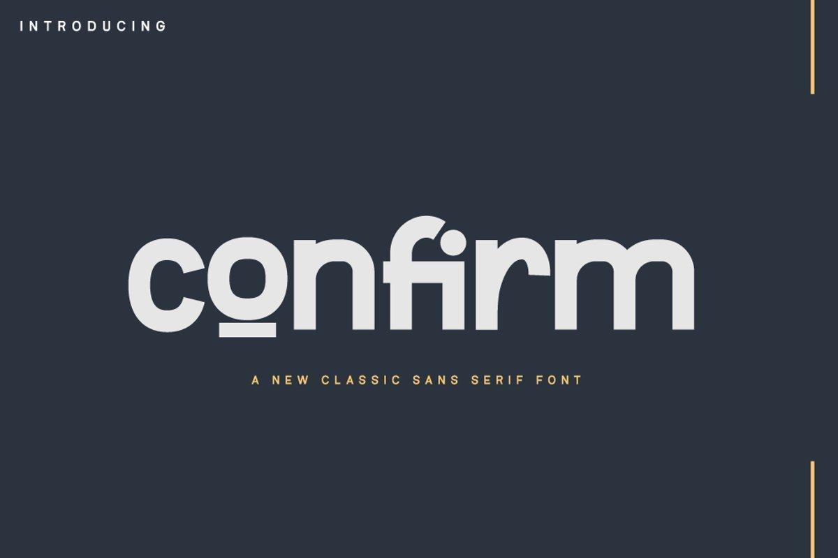 Confirm-Font